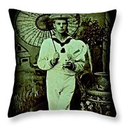 Anglo Sailor In China Ca 1890 Throw Pillow