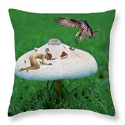 Angoisse Feminine#5 Throw Pillow