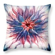 Angora Bloom Throw Pillow