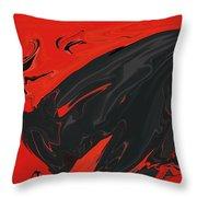 Angry Bull 2 Throw Pillow