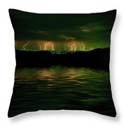Angry Clouds Throw Pillow