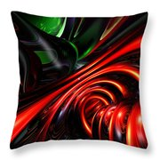 Angry Clown Abstract Throw Pillow