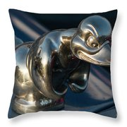 Angry Duck Throw Pillow