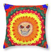Angry Flower Throw Pillow
