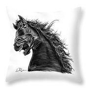 Angry Horse Throw Pillow