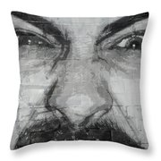 Angry Man Throw Pillow
