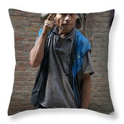 Angry Man Part I Throw Pillow