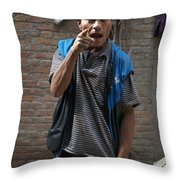Angry Man Part II Throw Pillow