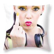 Angry Music Throw Pillow