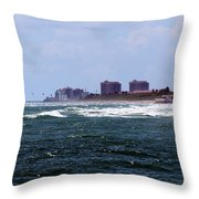 Angry Ocean Throw Pillow
