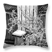 Angry Plant Bw Throw Pillow