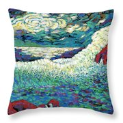 Angry Seas Throw Pillow