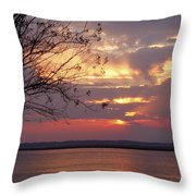 Angry Sky Throw Pillow
