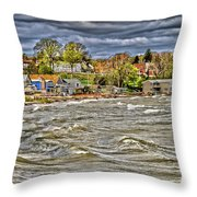 Angry Surf Throw Pillow