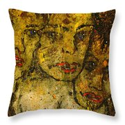 Angry Warriors Throw Pillow
