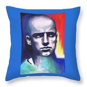 Angry Young Man Throw Pillow
