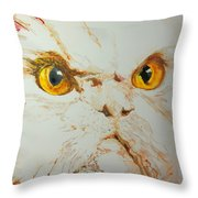 Angry Cat. Throw Pillow