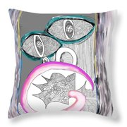 Angry_face_2 Throw Pillow