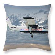 Anguilla Air Services Britten-norman Bn-2a-26 Islander 113 Throw Pillow