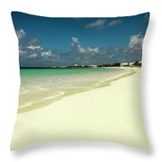 Anguilla - Beach  Throw Pillow