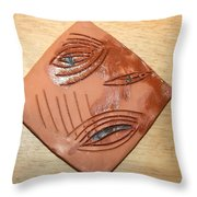 Anguish - Tile Throw Pillow