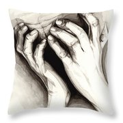 Anguish #2 Throw Pillow