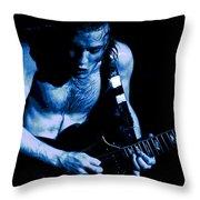 Angus Rocks The Blues Throw Pillow