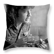 Angus Young Ac/dc Throw Pillow