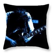 Angus Young On Guitar Throw Pillow