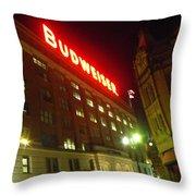 Anheuser-busch Brewery Throw Pillow
