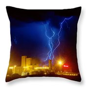 Anheuser-busch On Strikes Throw Pillow