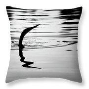 Anhinga In Silouette Throw Pillow
