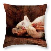 Animal - Cat - My Chew Toy Throw Pillow
