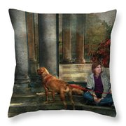 Animal - Dog - Hello There Throw Pillow