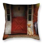 Animal - Dog - Waiting For My Master Throw Pillow