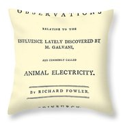 Animal Electricity, Title Page Throw Pillow