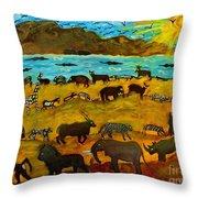 Animal Exodus Throw Pillow