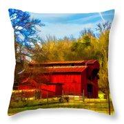Animal Farm Painting Throw Pillow