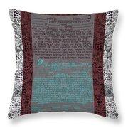 Animal  Ketubah- Reformed And Interfaith Version Throw Pillow