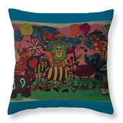 Animal Party Throw Pillow