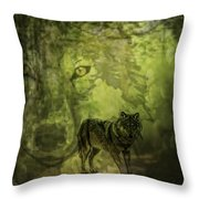 Animal Sprits - The Wolf Throw Pillow