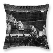 Animal Tamer, 1930s Throw Pillow