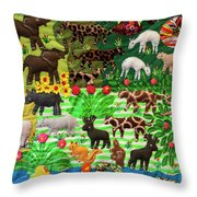 Animal Tapestry Throw Pillow