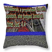 Animals As Art With Text Throw Pillow