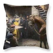 Animals: Clever Hans, 1904 Throw Pillow