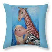 Animals Ladies Throw Pillow
