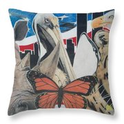 Animals Of Freedom  Throw Pillow