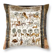 Animals Past And Present Throw Pillow