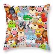 Animals Zoo Throw Pillow