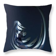 Animartronic Fishhead In The Dead Sea Of The Future Throw Pillow